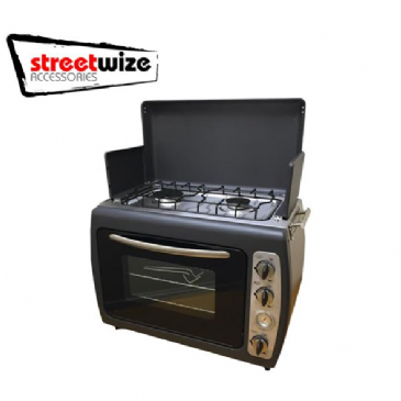 Leisurewize Portable Kitchen - Twin Hob & Double Shelf Oven